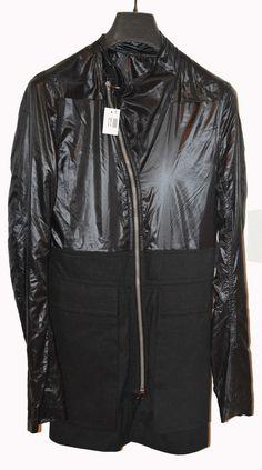 Rick Owens Anthem S/S11 Black Safari Mens Coat/Jacket Size XS GB 34 US 34