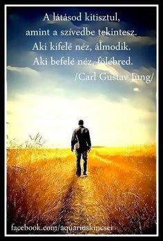 C. G. Jung gondolata az önismeretről. A kép forrása: Aquarius Kincsei # Facebook