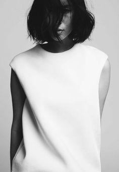 Chic Minimal Tailoring - clean white dress, minimalist fashion