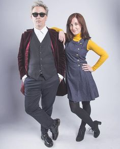 Pin for Later: 28 Doctor Who Costume Ideas For Couples That Are Fantastic The Twelfth Doctor and Clara Oswald