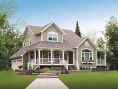 Floor Plans AFLFPW05446 - 2 Story Country Home with 3 Bedrooms, 2 Bathrooms and 2,283 total Square Feet