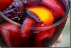 Another Sangria recipe    The Best Sangria Ever    Ingredients:    1 bottle merlot (can use cabernet or zinfandel)    1 lemon, cut into wedges    1 orange, cut into wedges    2-3 Tablespoons sugar (I used 3)    1 shot rum (I used 2)    2-3 cups Ginger Ale (I used club soda)    Other fruit: strawberries, blueberries, kiwi, peaches, raspberries