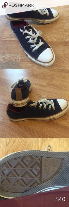 Converse All Star Converse All Star Navy Blue Corduroy Sneakers woman's size 9 Mens size 7 Perfect Condition Never Worn! Shoes Sneakers
