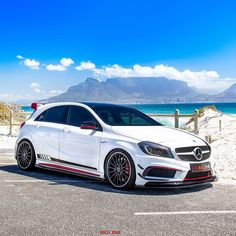 made Picture & Owner : -Swiss made Picture & Owner : - <<<Listen to this Wild Italian Battle in London! Mercedes Hatchback, Mercedes Benz Maybach, Hatchback Cars, Classe A Amg, Subaru, Custom Mercedes, Vw Gol, Mercedez Benz, British Sports Cars
