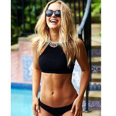 Black @kaiami_swim SHIRRED bikini l #moroccaneclipse #kaiamiswim #bikinis #summer -