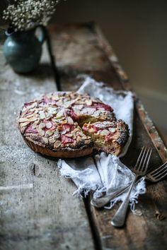 Rhubarb & Blood Orange Bakewell tart