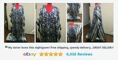 Caftan Kaftan Lounge Dress Winlar One Size Batwing Sleeves Satin Mixed Print | eBay #winlar #caftan #loungedres