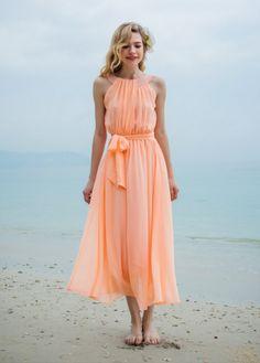 Pretty peach dress