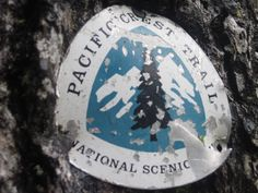 Pacific Crest Trail marker north of Snoqualmie Pass in the Commonwealth Basin