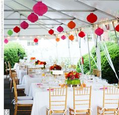 Omg that is how I pictured my wedding ... Just my lanterns in clusters .....cute lanterns