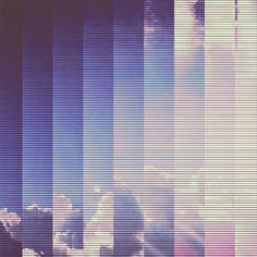 CLOUDS- Video glitch 014 Art Print