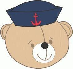 Molde Aplicação Cabeça Urso Marinheiro