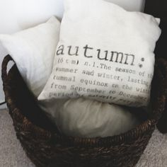 Fall Into Autumn 16 x 16 Fall Pillow Cover by ParrisChicBoutique, $18.00