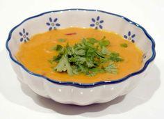 Ingredienser 1 stort hokaido græskar (ca. 500 gram skrællet og renset) 1 løg 1 fed hvidløg 1 tommeltot stort stykke ingefær 1 tsk garam masa...