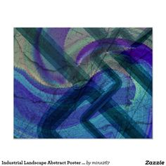 Industrial Landscape Abstract Poster Print