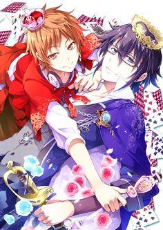 Yata Misaki & Fushimi Saruhiko | K (by おめが http://touch.pixiv.net/member_illust.php?mode=medium&illust_id=40419372) #anime