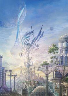 円環の塔の街 by K,Kanehira | CREATORS BANK http://creatorsbank.com/KKanehira/works/276473