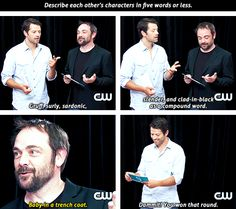 Cas and Crowley in five words