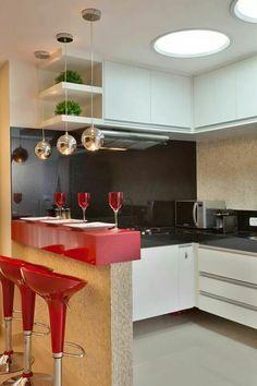 Reforma Casa Ipiranga: Cozinhas modernas por Designer de Interiores e Paisagista Iara Kílaris Minimalist Kitchen, Minimalist Decor, Minimalist Design, Minimalist Interior, Minimalist Living, Minimalist Bedroom, Modern Minimalist, Kitchen Interior, Kitchen Decor