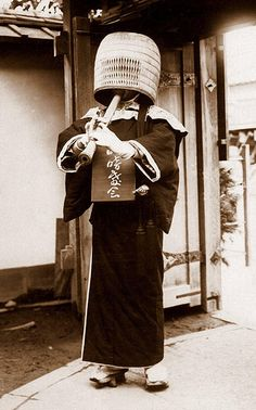 by Okinawa Soba, via Flickr.  Ca. 1910-20 view of a Zen Buddhist playing a Bamboo Flute.  The photo posed above is possibly by T. ENAMI.