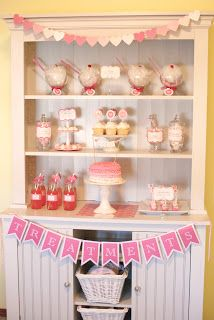 I would totally do this (different banner) for a baby shower or even 1st birthday for little girl ♥