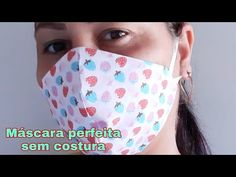 MÁSCARA PERFEITA SEM COSTURA😷 - YouTube Easy Face Masks, Diy Face Mask, Twin Day, The Joy Of Painting, Diy Mask, Mask Making, Sewing Tutorials, Diy Beauty, Youtube