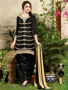 Lovely outfit is capable in winning the hearts of every women.  Item Code: SLNYA706 http://www.bharatplaza.com/new-arrivals/salwar-kameez.html
