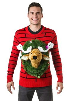 """The only reaction to this sweater? """"Oh deer."""" #UglySweater #UglyChristmasSweater"""