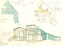 Y House sketch - Steven Holl Steven Holl Architecture, Architecture Student, Architecture Drawings, Concept Architecture, House Architecture, House Sketch, House Drawing, Alvar Aalto, Design Garage