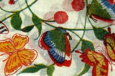SALE Vintage Handkerchief BUTTERFLY FLORAL by chrystelle on Etsy, $5.00