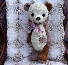 Artist Bear OOAK Crocheted Thread Teddy Bear von CrochetTeddyBears