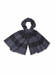 MARIMEKKO GALLERIA SCARF DARK GREY, BLACK  #stripes #stripe #preppy #black #grey #gray #wool #classic #marimekko #pirkkoseattle #pirkkofinland