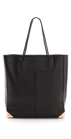 Alexander Wnag Prisma Tote in rich, wrinkled leather with polished hardware