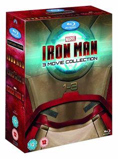 Iron Man 3 Movie Collection Trilogy 1 2 3 (Blu-ray, 3 Discs, Region Free) NEW Iron Man Dvd, Avengers 2012, Black Widow Scarlett, Stark Industries, Ironman, Man Thing Marvel, 3 Movie, Iron Man Tony Stark, New Inventions