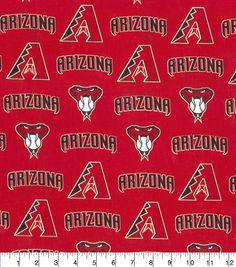 "Arizona Diamondbacks Cotton Fabric 58"" - Logo"