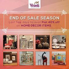 Make your home a picture-perfect with plethora of beautiful home decor items available at #Vrieti.  #EndofSeason Sale. Upto 40% off on items !  Visit our store or Call on: +91 120 4311245. #Vrieti: www.vrieti.com  #Homedecor #HomeInterior #Interiordesigns #vase #aritificalflowers #candlestands #photoframes and much more !