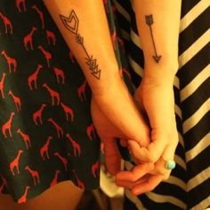 Besties - Arrow Tattoos - Done by Kevin Davidson @ Passage Tattoo, Toronto, Ontario