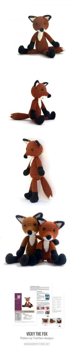 Vicky The Fox Amigurumi Pattern
