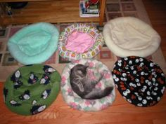 Cat/Dog beds tutorial! Nice for small dogs but scale up for big dogs as they love their beds too!  MJ