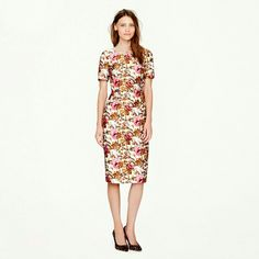 J. Crew Collection Antiqued Floral Dress $398 Like new. Actual item photos coming soon. J. Crew Dresses