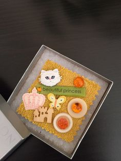A Holloween princess brooch created from orange and white buttons by OnTheButtonPath on Etsy