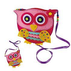 Kids' Felt Craft Kits - Make Your Own Felt Owl Bag Kit * Click on the image for additional details.