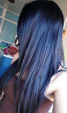 navy blue black hair color google search - Midnight Blue Black Hair Color
