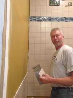 Custom Walk in Shower by Jeff Simonis with one of a kind Sporck Tiles
