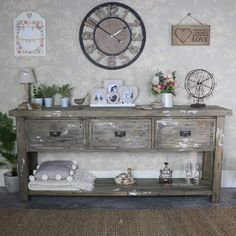 Large Weathered 3 Drawer Sideboard – Walden Range #homedecor #interiors #homeideas #whitedecor #home #vintagestyle #vintagehome #vintagehome #interiordecor #wallart #decor #decorideas #homestyling #interiordesign #interiordecor #rustic #rusticdecor #rusticfurniture