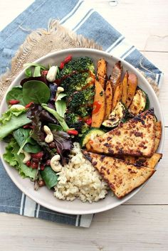 """Crack Tofu + Superfood Abundance Bowls 4 Ingredient """"Crack"""" Tofu + Abundance Bowl - this tofu recipe is made in minutes, with minimal mess. Crispy on the outside, tender on the center, swee. Tofu Recipes, Whole Food Recipes, Vegetarian Recipes, Cooking Recipes, Healthy Recipes, Recipes Dinner, Recipies, Superfood, Clean Eating"""