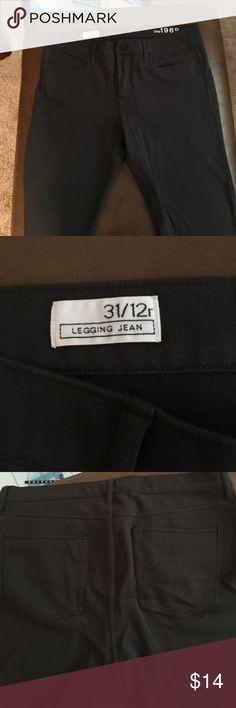 GAP Legging Jean GAP Legging Jean. 12. Stretchy soft cotton. Grey.  VGUC. SF home. GAP Jeans Skinny