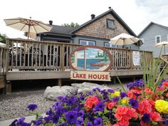 The Lake House Restaurant, Fenelon Falls - Across the road from TSW Lock 34 Lakehouse Restaurant, Haus Am See, Ontario, Deck, Cottage, Cabin, Dining, House Styles, Outdoor Decor