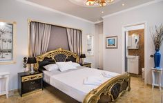Pandis Palace Luxury seafront holiday Villa in Crete Crete Chania, Palace, Luxury, Bedrooms, Furniture, Gallery, Holiday, Home Decor