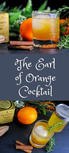 Earl Grey tea, spiced orange simple syrup and bourbon.   cocktail, recipe, dessert